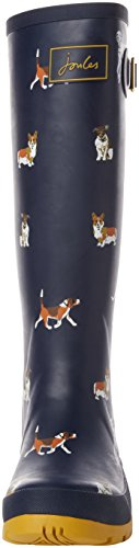 Joules wellyprint, Botas de agua Mujer Azul ( Navy Dog Print)