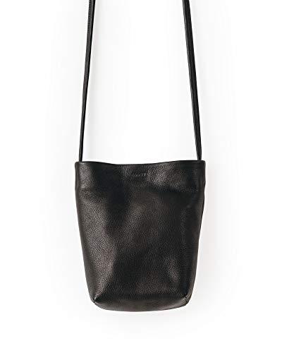 BAGGU Crossbody Purse, Made From Super Soft Leather, Black