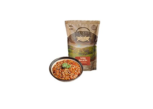 Backpacking, Camping, and Emergency Preparedness Freeze Dried Food Supply Bags - Valley Food Storage (5 Servings of Enchilada Beans & Rice)