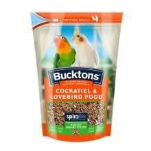 Cranswick Bucktons bolsa Cockatiel y paquete de 500 g de 1 Lovebird