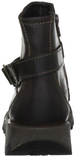 Fly London Sake - Botas de cuero mujer marrón - Dk Brown Rug