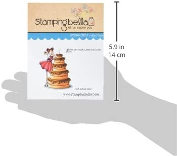 Uptown Girl Bianca Loves Her Big Cake Stamping Bella Cling Rubber Stamp 6.5 x 4.5-inch 6.5 x 4.5