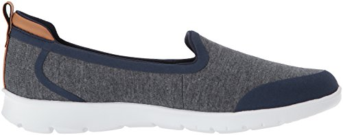 WoMen Flat Step Loafer Navy Lo Allena Clarks Heathered Fabric f67qd6