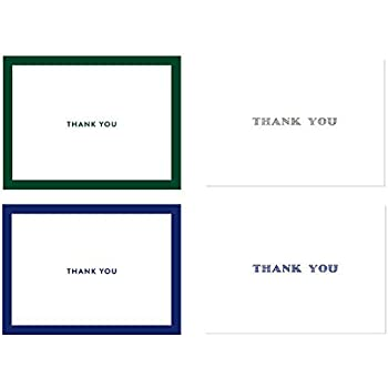 amazon com great papers midnight blue thank you cards with