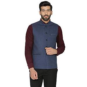 WINTAGE Men's Tweed Wool Festive and Casual Nehru Jacket Vest Waistcoat : Multiple Colors