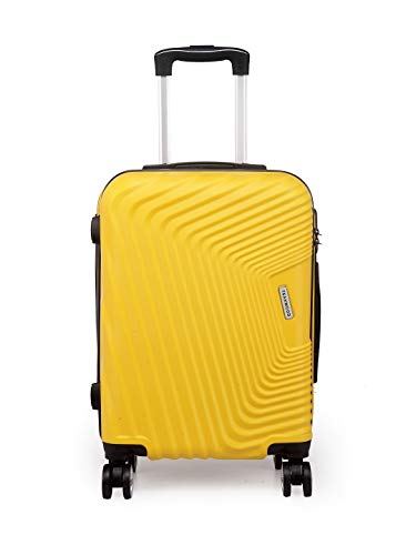 Teakwood ABS 53 cm Yellow Hard-Sided Check-in Luggage (TR_H_5_Yellow_S)