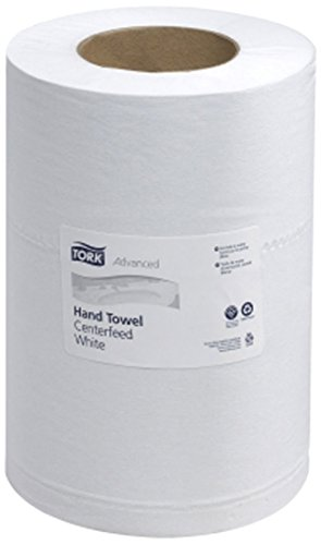 (Tork 121225 Advanced 2-Ply Mini Centerfeed Wide Hand Towels, White - 12 Pack)