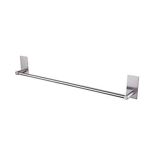Kes Bathroom Lavatory 3M Self Adhesive Single Towel Bar 24-Inch, Brushed Stainless Steel