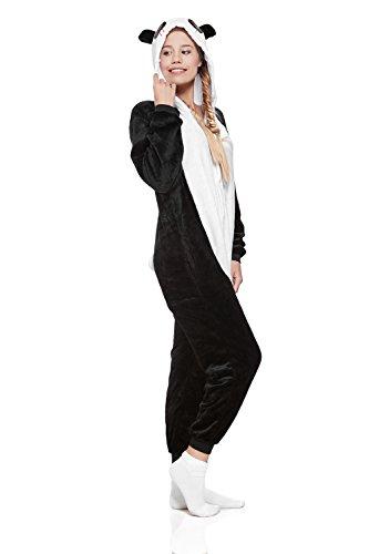 Adult Panda Kigurumi Onesie Pajamas Animal Cosplay Costume Hooded Warm Fleece Pjs (Medium, Black/White) by Nothing But Love (Image #2)