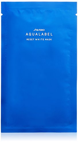 Shiseido AQUALABEL Hyaluronic Acid Mask | Reset White Mask 18ml x 4 sheets