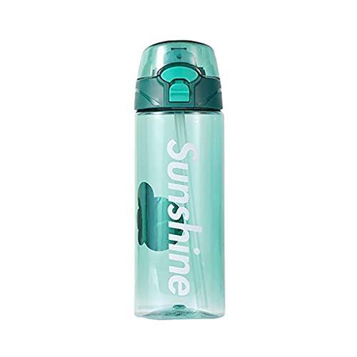 Huifa Fashion Straw Water Drink Bottle Fashion Sport Hydration Cycling Hiking Camping Tritan Cup (C)
