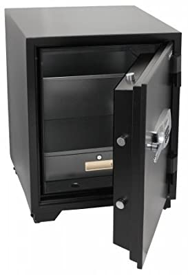 Honeywell 2118 Steel Fireproof Security Safe with Dual Digital Lock and Key Protection, 3.44-Cubic Feet, Black