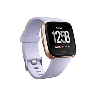 Fitbit Versa Smart Watch, Periwinkle/Rose Gold, Aluminium, One Size (S & L Bands Included) (B07L5TP4QG) | Amazon Products