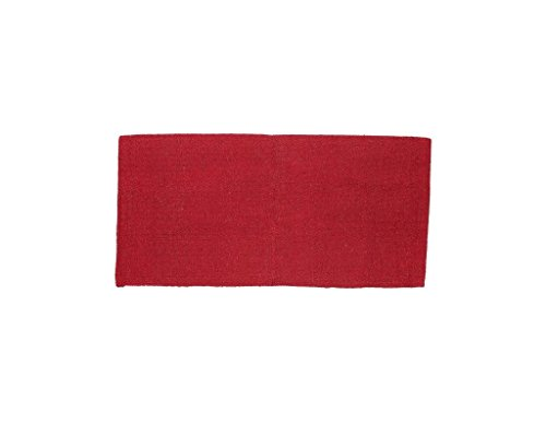 Tough-1 Solid Acrylic Saddle Blanket Red 32X32