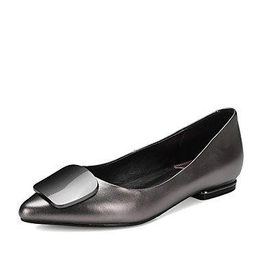 negro y carrera elegante verano vestido rojo negro otros otros pisos talón plano primavera de mujeres de oficina Cómodo las soporte casual zapatos piel y gris otoño a1Zq51