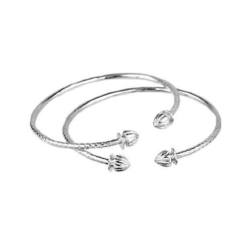 Acorn Sterling Silver Indian Bangles product image