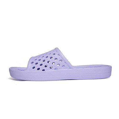 Easy Go Shopping Pool Slide Hollow Vamp Slip On Slipper for Women and Men,Flip Flop Sandals for Men Purple