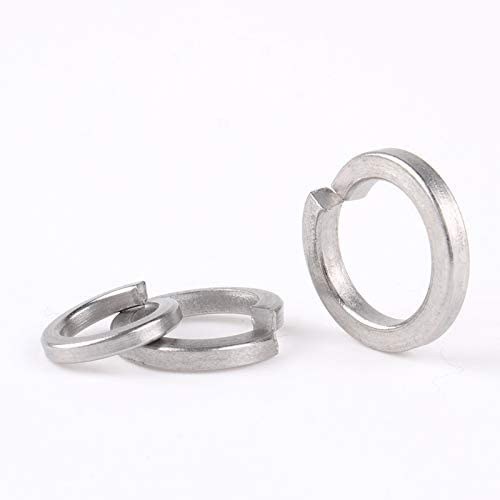 Zyj stores Flat Washers Spring Washers Single Coil A4 316 Marine Grade Stainless Steel Washer M2 M2.5 M3 M4 M5 M6 M8 M10 M12 M16 M18 M20 M22 M24 Stainless Flat Washer Color : 50Pcs, Size : M8