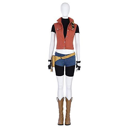 cossun Resident Evil 7 Biohazard Claire Redfield Cosplay Costume Full Suit Women halloween (L) -