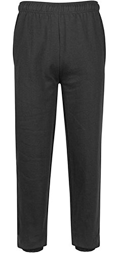 Black Pants Cuff (Premium Boys Sweatpants Jogger Pants - Slim Fit - Elastic Waistband & Cuff Black 10 / 12)