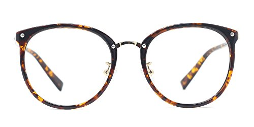 TIJN New Oval Glasses Optical Eyeglasses Frame for Women (Tortoise, 50-19-135)