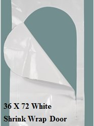 36 X 72 White Shrink Wrap Door By US Marine Products
