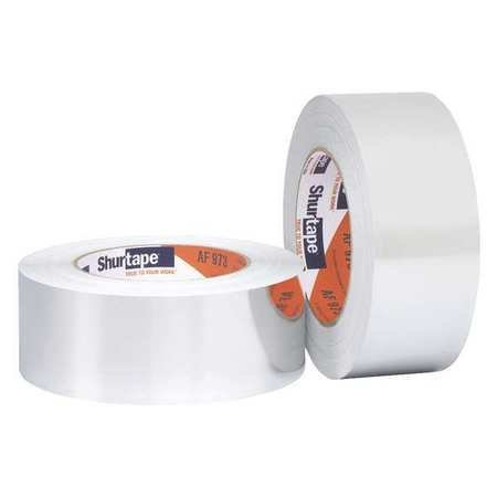Shurtape AF-973 Aluminum Foil Duct Tape, 50 yds Length x 2'' Width, 4 Mil Thick, Silver
