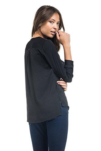 SALSA Camisa satinada con cremallera Negro
