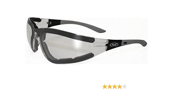 e0c36340648 Amazon.com  Ruthless Padded Motorcycle ATV Power Sports Protective Glasses  Sunglasses Clear Lens  Automotive