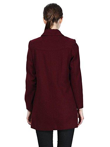 Jollychic - Abrigo - para mujer rojo vino