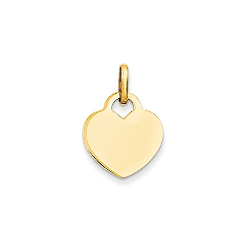 14k Mom Heart (ICE CARATS 14k Yellow Gold Heart Pendant Charm Necklace Love Fine Jewelry Ideal Mothers Day Gifts For Mom Women Gift Set From Heart)