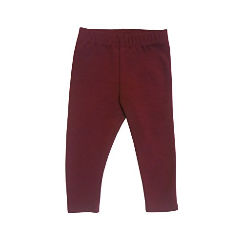 DMK Baby and Toddler leggings - Boys Girls Ponte Pants Available In Multiple Colors and Sizes (9-12, Berry)