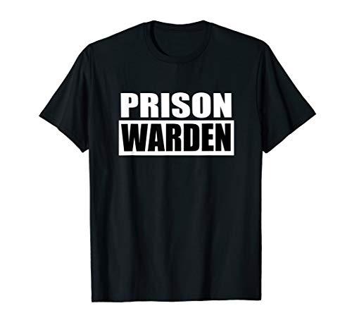 Prison Warden T-shirt for Halloween Prison Costume T-Shirt