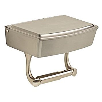 Delta Bath Toilet Paper Holder w/ Privacy Box Brushed NIckel Finish