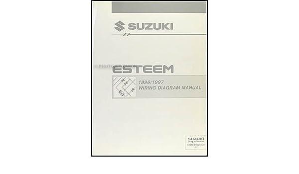 19961997 Suzuki Esteem Wiring Diagram Manual Original