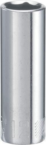 12 Drive Deep Socket - CRAFTSMAN Deep Socket, Metric, 1/4-Inch Drive, 12mm, 6-Point (CMMT44409)