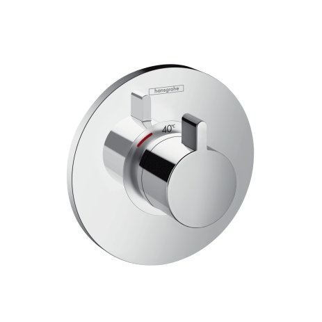 hansgrohe 15756000 Ecostat S highflow Thermostatic Mixer, Chrome, Silver