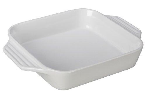 Le Creuset Stoneware Square Dish, 9.5-Inch, White