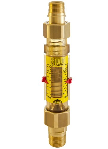 - Hedland H625-010-R EZ-View Flowmeter, Polyphenylsulfone, For Use With Water, 1.0 - 10 gpm Flow Range, 3/4