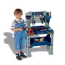Theo Klein Bosch Adjustable Height Toy Workbench With - Workbench Bosch