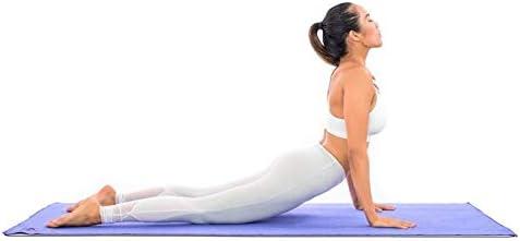 Antideslizante Esterilla de yoga–más larga y ancha que otros alfombrillas de ejercicio–1⁄ 10.2cm de grosor acolchado de alta densidad para evitar dolores de rodillas durante el Pilates, estiramientos y tonificación–para Hombres y Mujeres–desde Clever Yoga 5