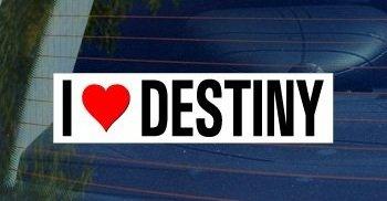 I Love Heart DESTINY - Window Bumper - Directions Usa To Destiny