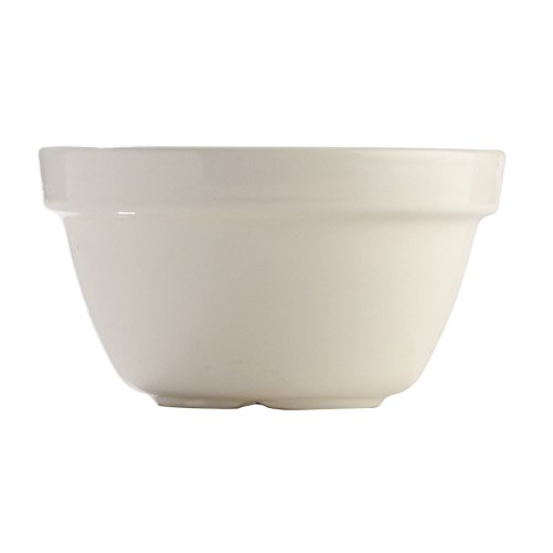 Mason Cash Steam Bowl (British Term - Pudding Basin), Cream, (0.25 Quart Oven)