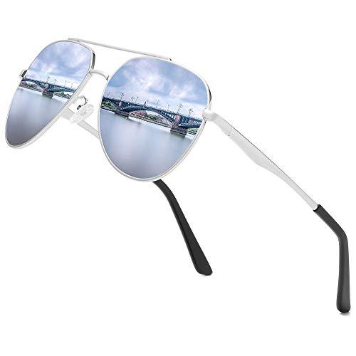 Premium Military Men Aviator Polarized Sunglasses Women Coating Mirror Sun Glasses for Driving,100% UV
