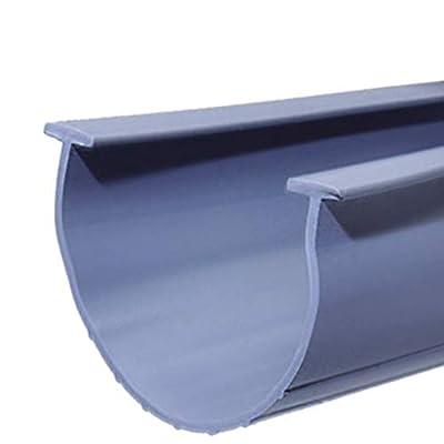 HOOIMA Universal Garage Door Bottom Weather Seal Replacement | T-Ends | 20 Foot Garage Weatherstrip | 3.75-4 Inches Width| Perfect for Uneven Garage Door Floor