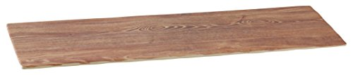 Yanco WD-222 Rectangular Wooden Tray, 21'' Length, 6.5'' Width, Melamine, Bronw Color, Pack of 6 by Yanco