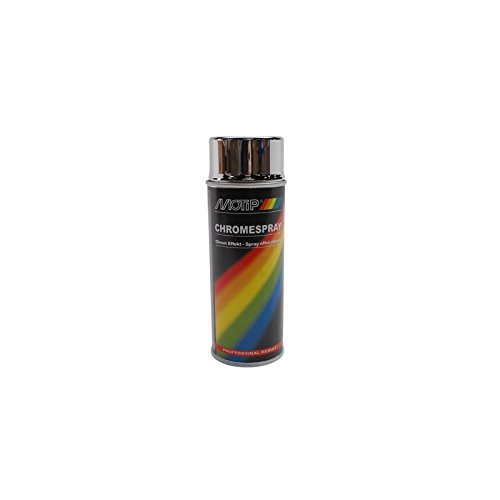 BOMBE DE PEINTURE MOTIP PRO EFFET CHROME spray 400ml (04060) (ATTENTION NE PAS COUVRIR DE VERNIS)
