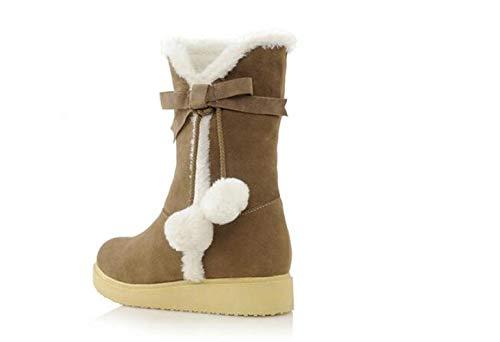 Balles En À n Coton Femmes C Pour Neige Chaussures tube De Chameau Chaudes Femmes Mi Bottes Yxxnaq1