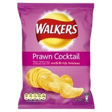 (Walkers Prawn Cocktail Crisps 34.5G x 4)
