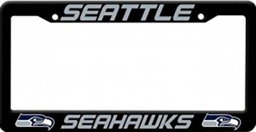 Rico Industries NFL Plastic License Plate Frame, Seattle Seahawks